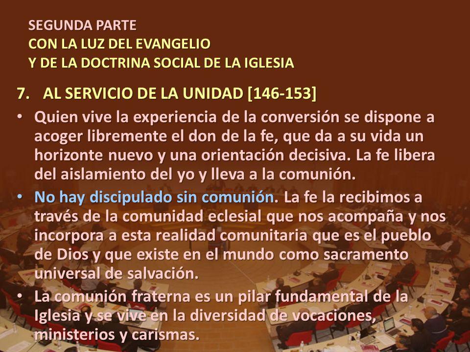 AL SERVICIO DE LA UNIDAD [146-153]